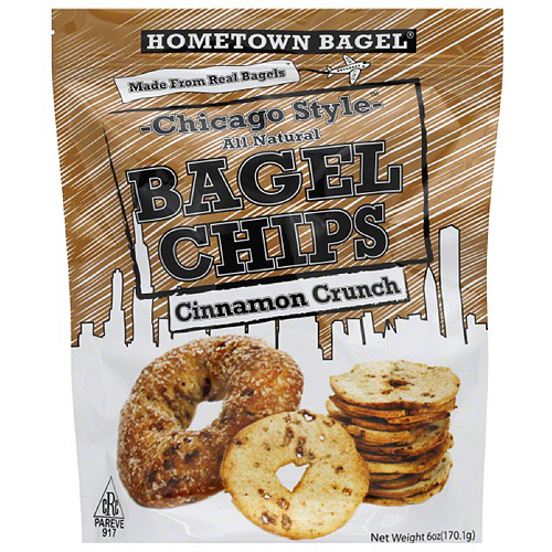 Hometown Bagel Cinnamon Crunch Chicago Style Bagel Chips, 6 oz, (Pack of 12)