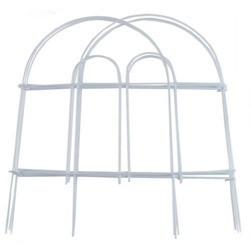 """Garden Zone 051808 Round Top Folding Fence, White, 18"""" x 8' by Garden Zone"""