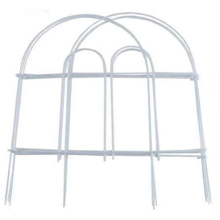 Garden Zone 051808 Round Top Folding Fence, White, 18