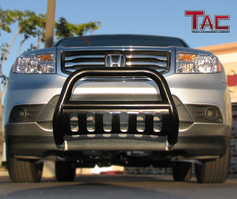 TAC Grill Guard Compatible with 2006-2015 Honda Ridgeline Pickup Truck Black Front Bumper Brush Nudge Push Bull Bar