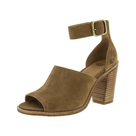 Ugg Women's Aja Chestnut Ankle-High Suede Pump - -