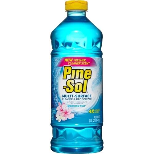 Pine-Sol Multi-Surface Cleaner, Sparkling Wave, 48 Fluid Ounce Bottle