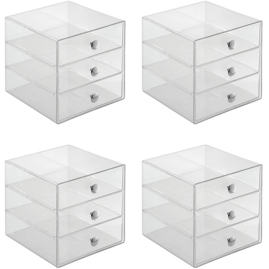 InterDesign Cosmetic and Jewelry Storage Vanity 3-Drawer Organizers