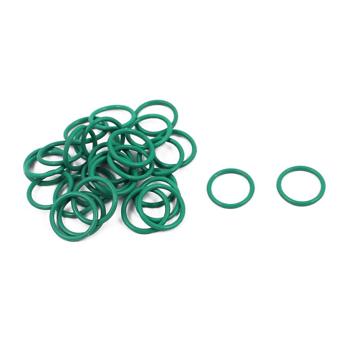 30Pcs 10mm x 1mm FKM Fluoro Rubber O-rings Heat Resistant Sealing Ring Grommets