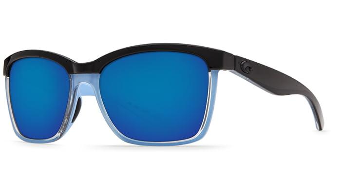 Black//Crystal//Light Blue//Green Mirror 580P Costa Del Mar Anaa Sunglasses
