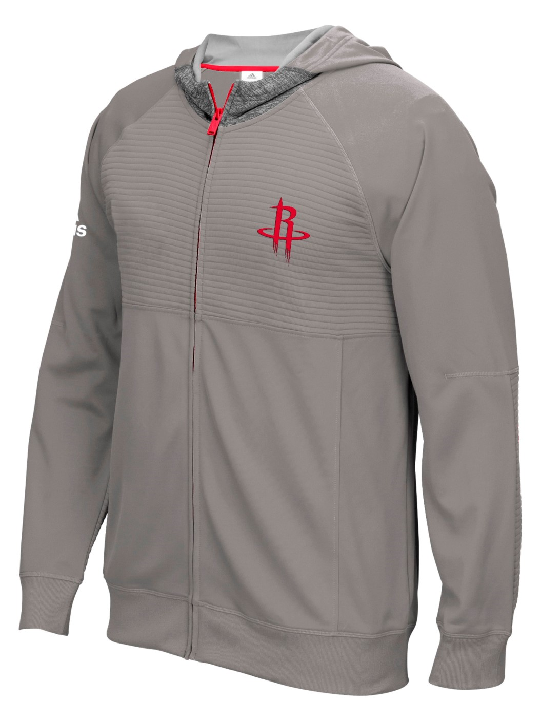 """Houston Rockets Adidas 2016 NBA Men's On-Court """"Pre-Game"""" Full Zip Hooded Jacket by Adidas"""