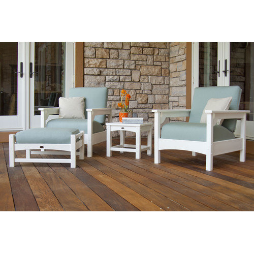 POLYWOOD® Club Deep Seating 4 pc. Set - White / Spa