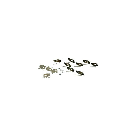 Eckler's Premier  Products 80282039 Chevy Quarter Molding Clips Rear 210 And Bel Air 4Door Sedan And Station