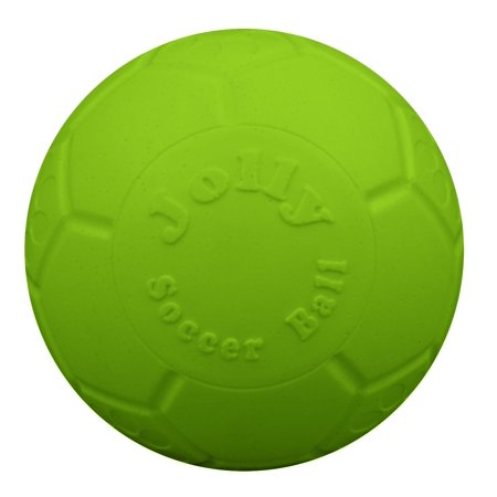 Jolly Pets Soccer Ball Green 6 inch | Apple Scented Rubber Chew Toy for Dogs](Soccer Toys)