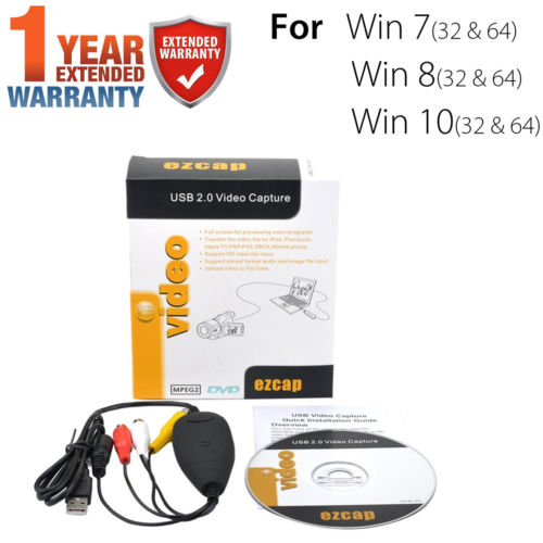 Easycap USB 2.0 Audio Video VHS to DVD Converter Capture Card Adapter WIN 7/8/10