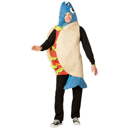 Fish Taco Men's Adult Halloween Costume, One Size, - Fish Costume Patterns