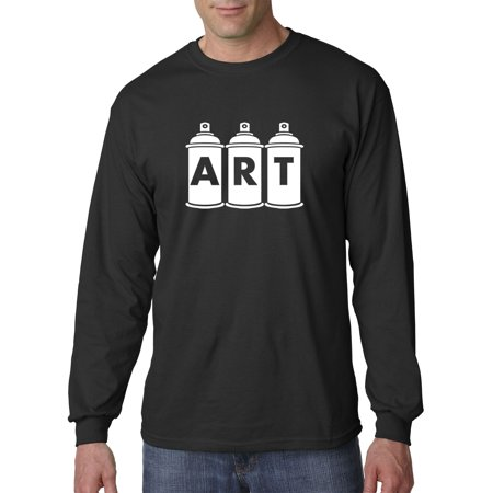 37542c612155 New Way - New Way 926 - Unisex Long-Sleeve T-Shirt ART Graffiti Spray Paint  Cans Artist Large Black - Walmart.com