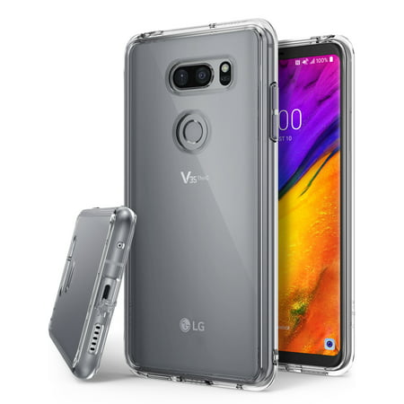 LG V35 Case, LG V35 ThinQ Case, Ringke [FUSION] Crystal Clear Lightweight Upgraded Minimalist Transparent PC Back TPU Bumper [Drop Protection] Raised Bezels Scratch Resistant - Clear Crystal Clear Shell Case