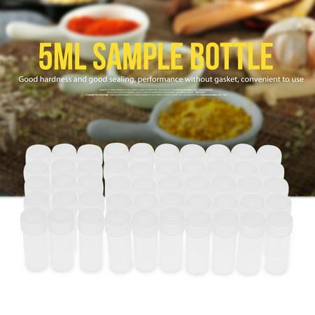 50 Pcs 5ml Volume Plastic Sample Bottles Small Storage Container,Sample Bottle, Plastic - Small Bottles