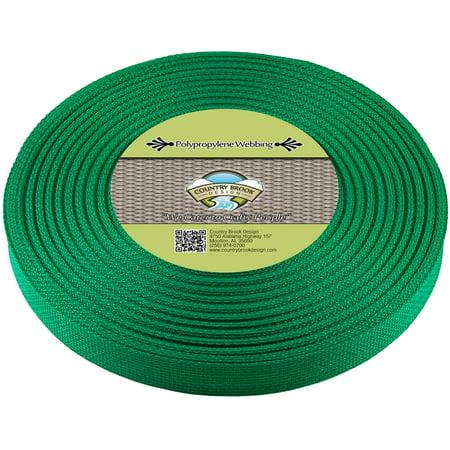 - Country Brook Design® 3/4 Inch Kelly Green Polypropylene (Polypro) Webbing
