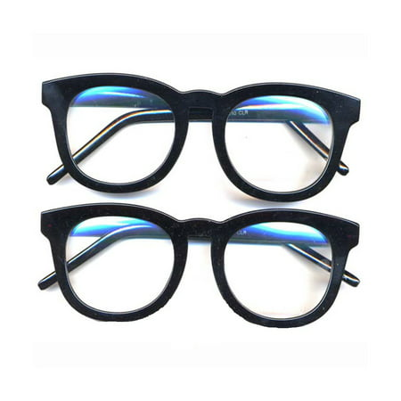 Black Rounded Thick Frame Clear Glasses  Johnny Depp Sunglasses Round Lens (Johnny Depp Wearing Glasses)