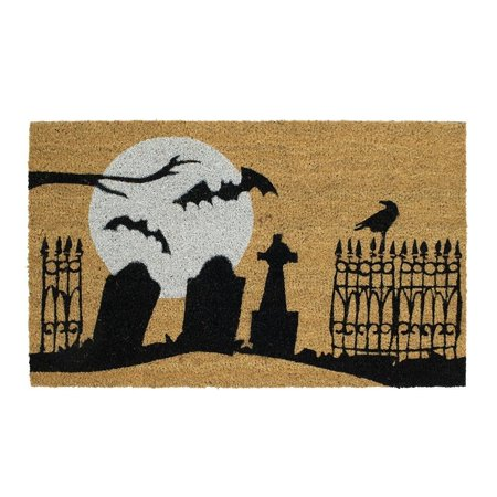 Home Accents Halloween Doormats Graveyard 40 in x 40 in Coir Door Stunning Home Accents Halloween Decorations
