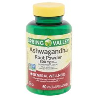 Spring Valley Ashwagandha Root Powder Vegetarian Capsules, 800 mg, 60 count