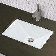 DecoLav Amabella Classically Redefined Ceramic Rectangular Undermount Bathroom Sink with Overflow