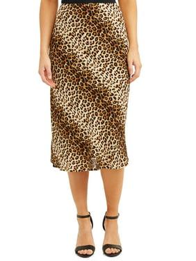 Women's Printed Midi Slip Skirt