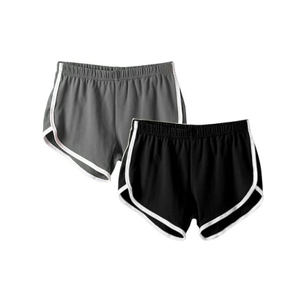 (2 Pack) Women Yoga Shorts Side Striped Fitness Sports Gym Activewear Running Jogging Summer Beach Shorts Casual Lounge Hot Pants