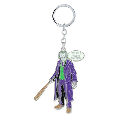 Superheroes DC Comics Joker Heath Ledger (Batman) Keychain for Autos, Home or Boat with Gift - Joker Heath Ledger Makeup