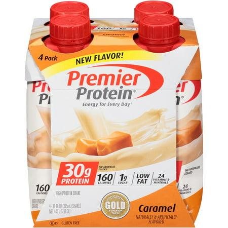Premier Protein Shake, Caramel, 30g Protein, 11 Fl Oz, 4 Ct