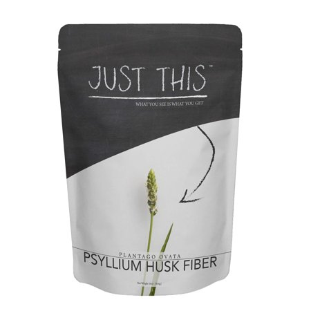 Natural Psyllium Husk Fiber Powder - Premium Soluble Fiber Supplement and Prebiotic - Simply Mix with Water or Use in Baking to Aid Constipation and Weight Loss - Just This Brand