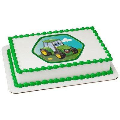 John Deere 1 4 Quarter Sheet Edible Photo Image Cake Decoration