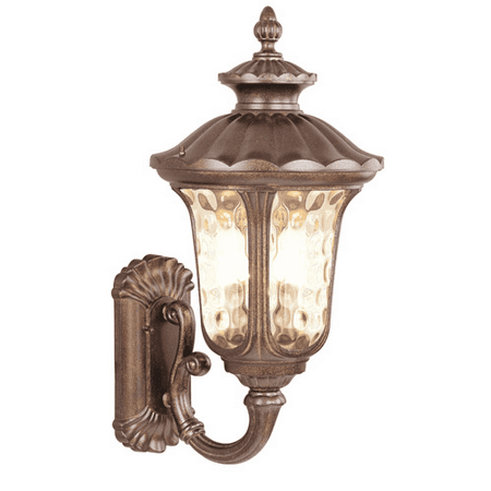 Wall Sconces 3 Light With Hand Blown Light Amber Water Moroccan Gold size 22 in 180 Watts - World of Crystal