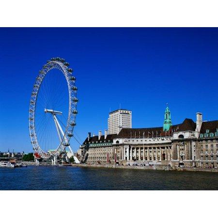 The London Eye, London Print Wall Art By David Ball - Halloween Balls London