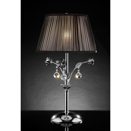 OK Lighting Crystal Rose 28'' H Table Lamp with Empire Shade