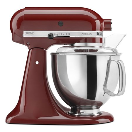 (KitchenAid KSM150PSGC Artisan Series 5-Qt. Stand Mixer with Pouring Shield - Gloss Cinnamon)