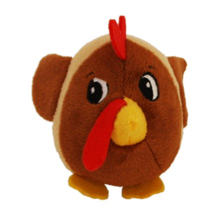 Toy Buddies Dog Squeaky Toy (Fattiez Round Squeaky Plush Dog Toy by Outward Hound, X-Small, Chicken )