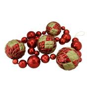 Northlight Oversized Shatterproof 6 ft. Shiny Christmas Ball Garland - Red