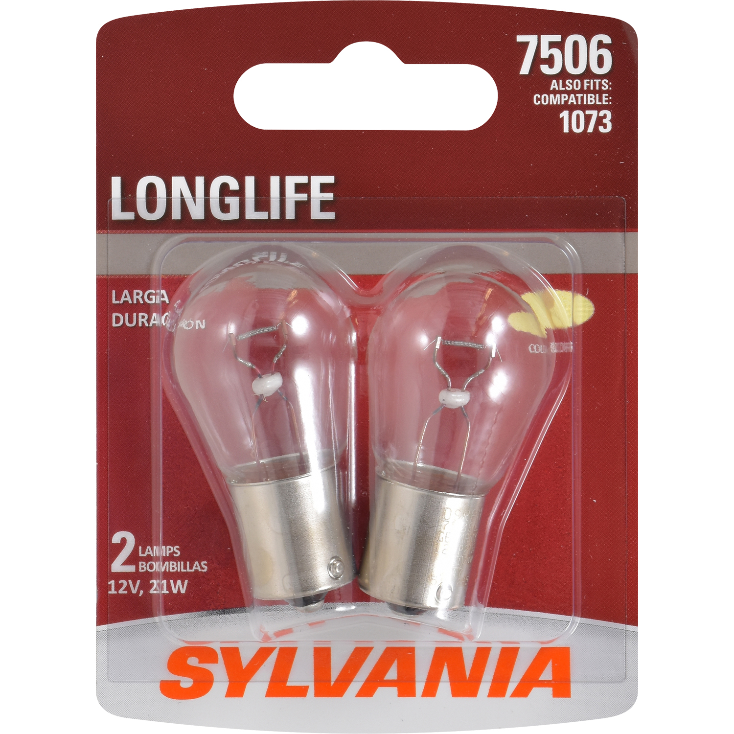SYLVANIA 7506 Long Life Mini Bulb, Pack of 2