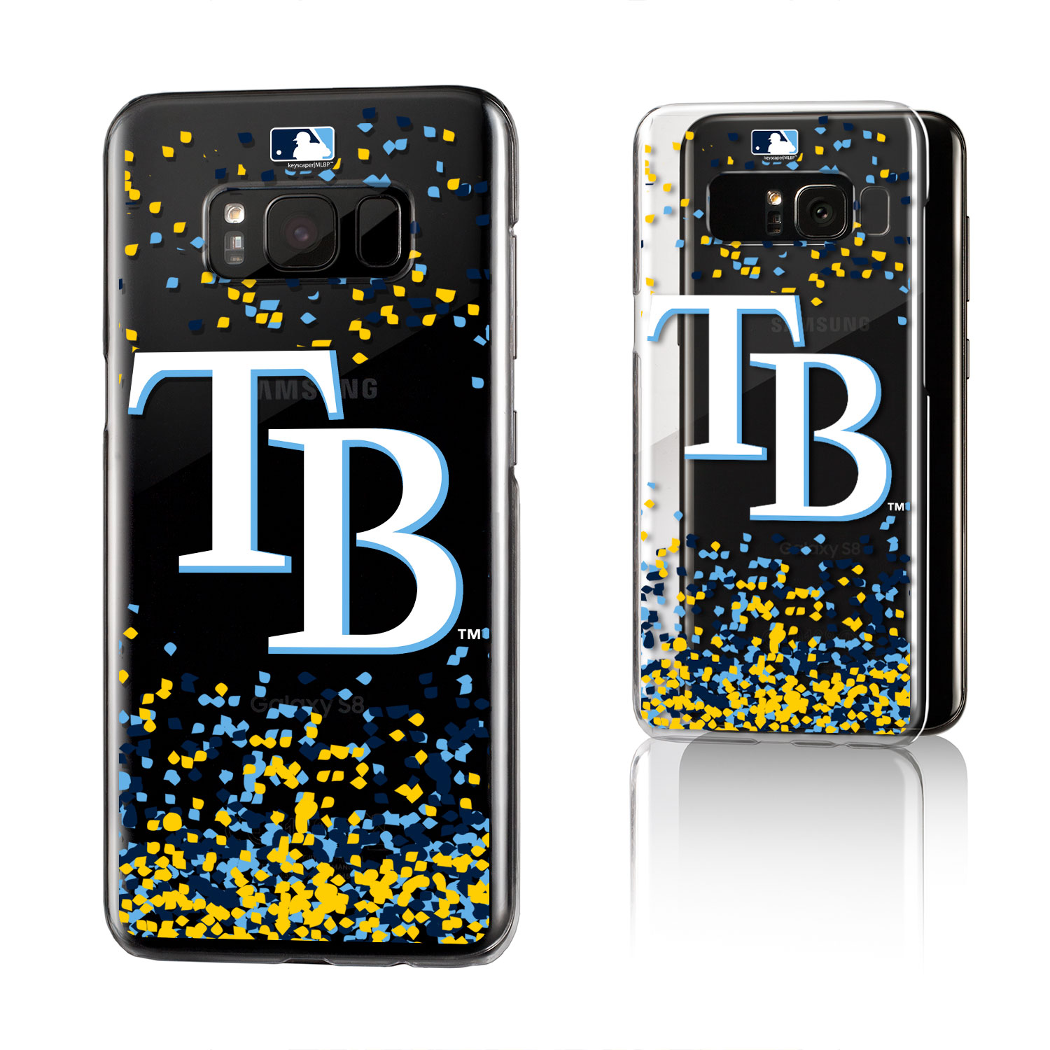 Tampa Bay Rays Rays Confetti Clear Case for Galaxy S8