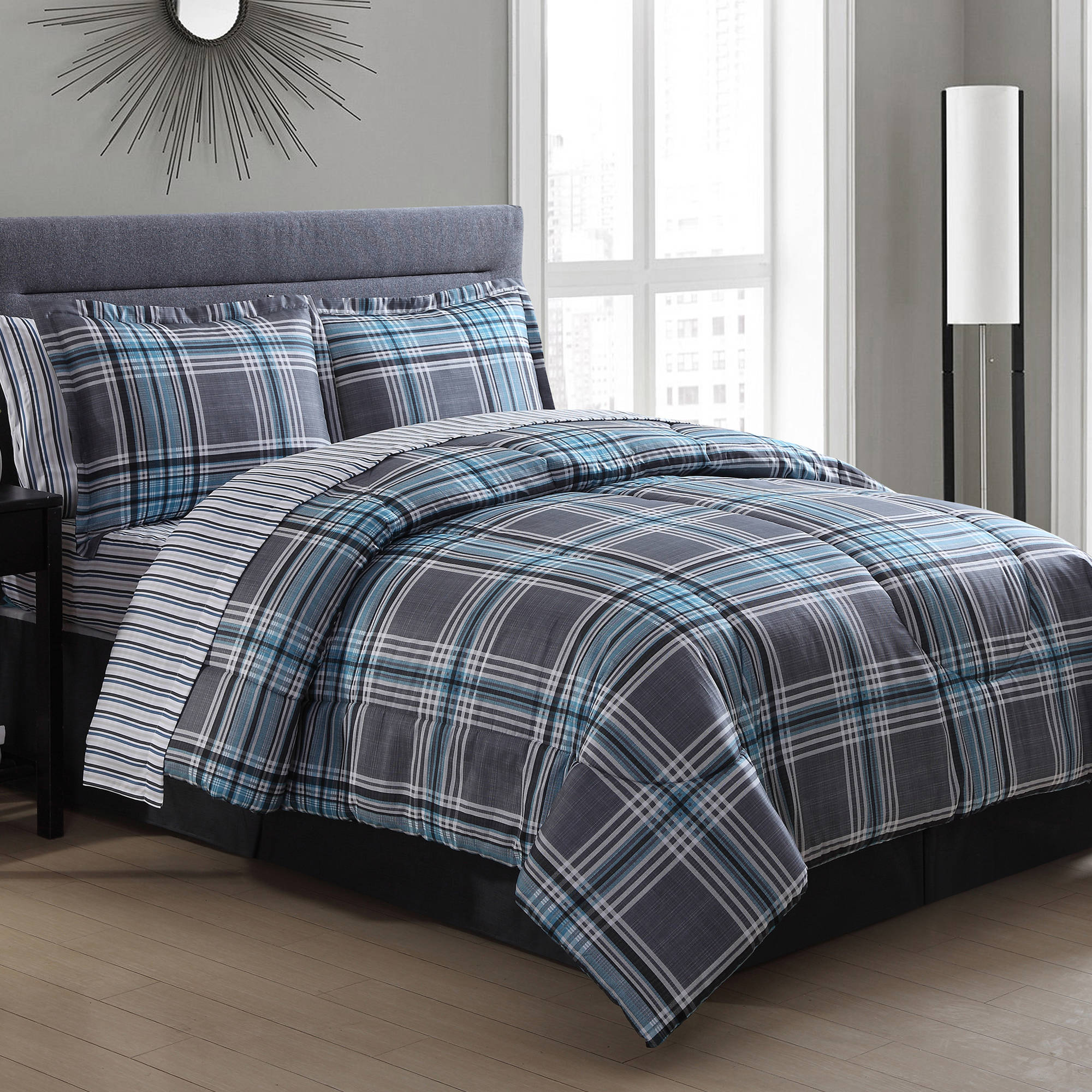 Chelsea Plaid Bed in a Bag Walmart