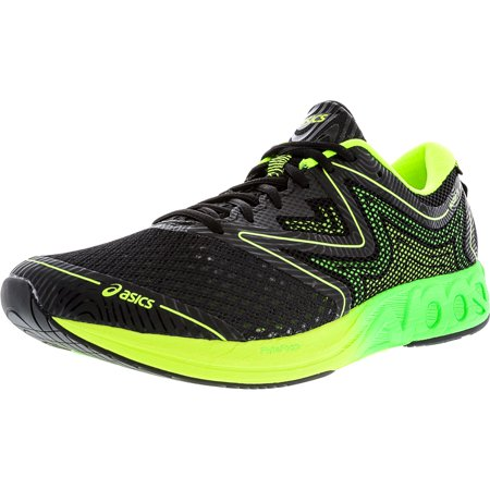 2a0dff4228b9 Asics Men s Noosa Ff Black   Green Gecko Safety Yellow Ankle-High Running  Shoe -