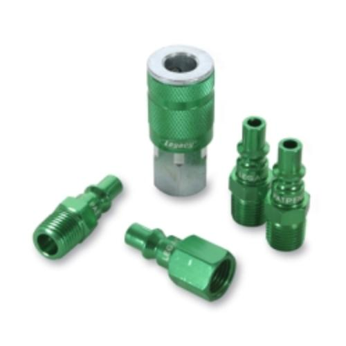 """Legacy Manufacturing A71456B Colorconnex Type B 5-pc 1/4"""" Green Coupler & Plug Kit"""