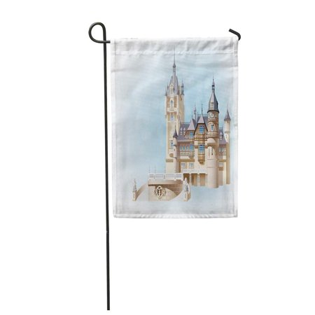LADDKE Germany Small German Castle Colored Sfumato on Separate Layers Garden Flag Decorative Flag House Banner 12x18 inch