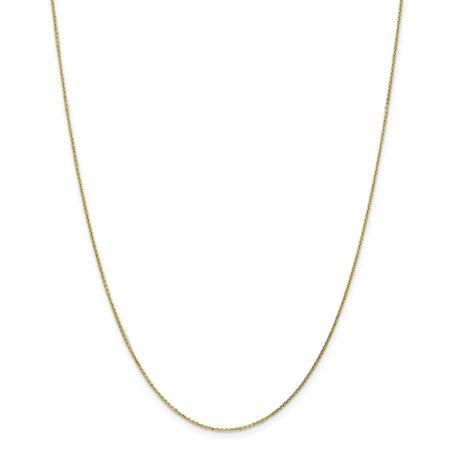 Roy Rose Jewelry 10K Yellow Gold .95mm Diamond-cut Cable Chain ~ length: 24 inches