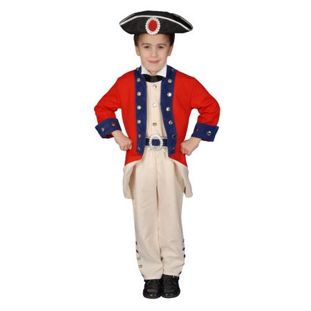 Boys Colonial Soldier Historical Halloween Costume - Easy Historical Halloween Costumes