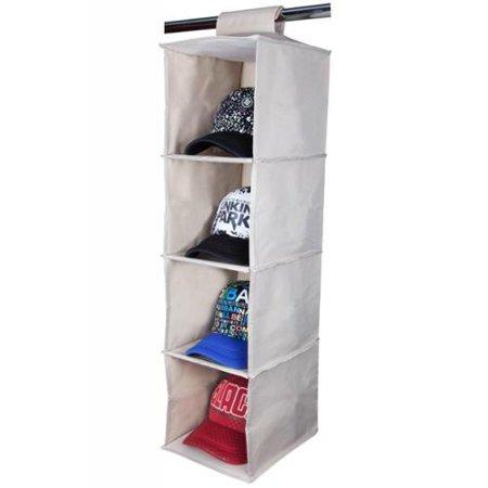 storagemaniac collapsible 4 shelf durable canvas hanging. Black Bedroom Furniture Sets. Home Design Ideas