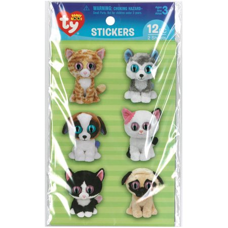 7314122d2af Beanie Boos Stickers 12 Pkg-Pet - image 1 of 1 ...