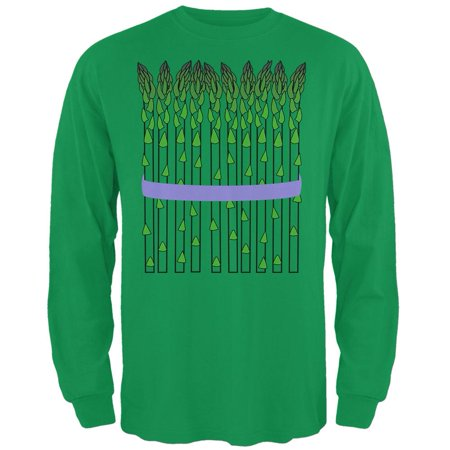 Halloween Vegetable Asparagus Costume Mens Long Sleeve T Shirt