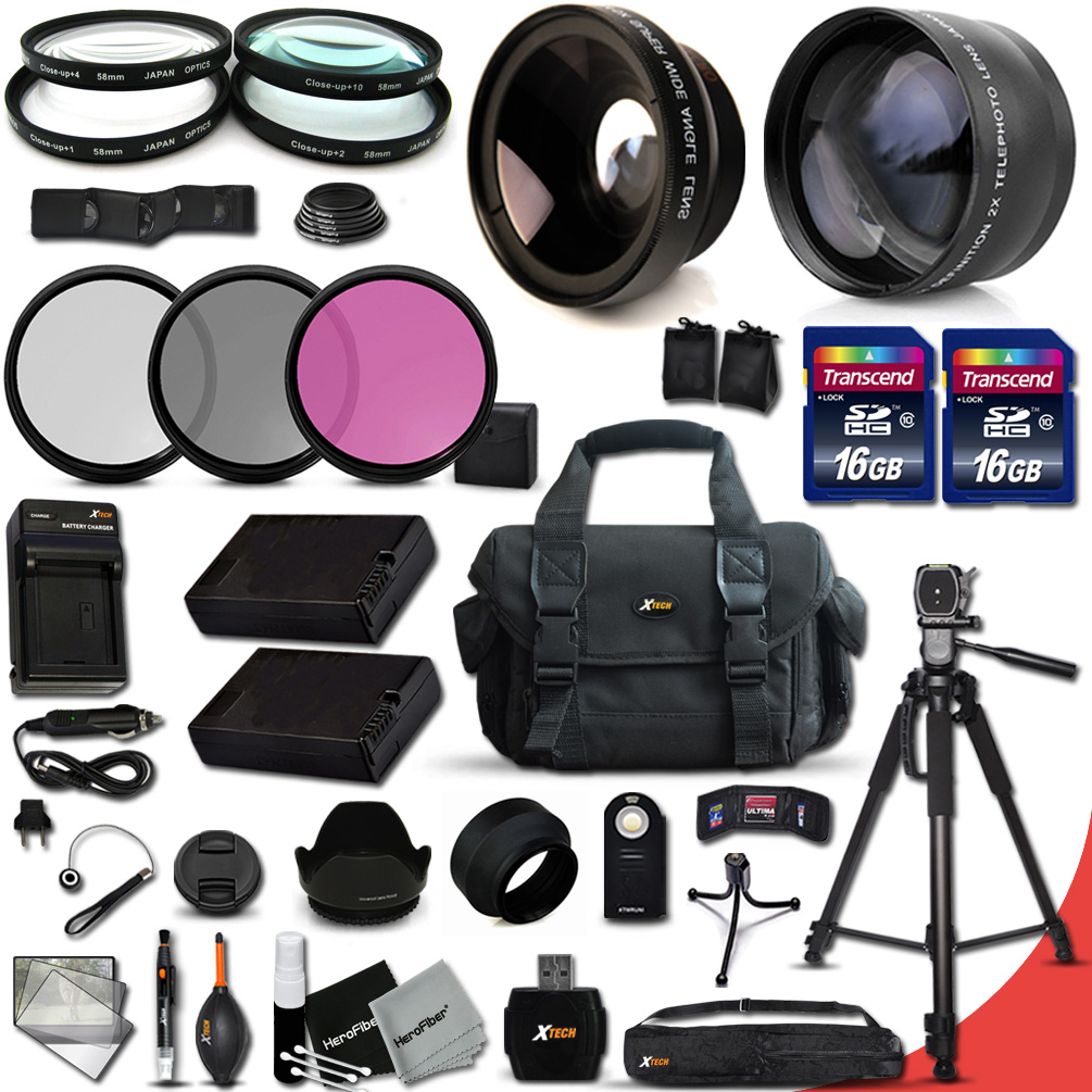 Ultimate 32 Piece Accessory Kit for Nikon D5500 D5300 D5200 D5100 D3300 D3200 P7800 P7700 P7100 P7000 Cameras Includes 58mm High Definition 2X Telephoto Lens + 58mm High Definition Wide Angle Lens + M