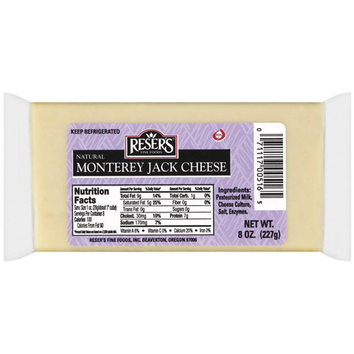 Reser's Fine Foods Natural Monterey Jack Cheese, 8 oz