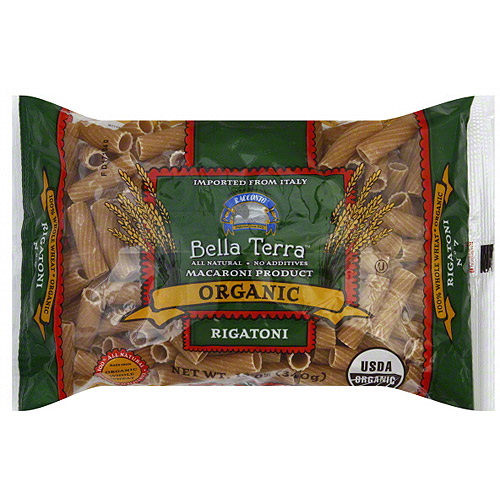 Bella Terra Organic Rigatoni Pasta, 12 oz (Pack of 12)