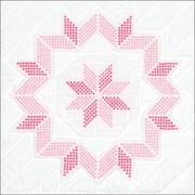 """Stamped White Quilt Blocks 18""""X18"""" 6/Pkg-Xx Starburst"""